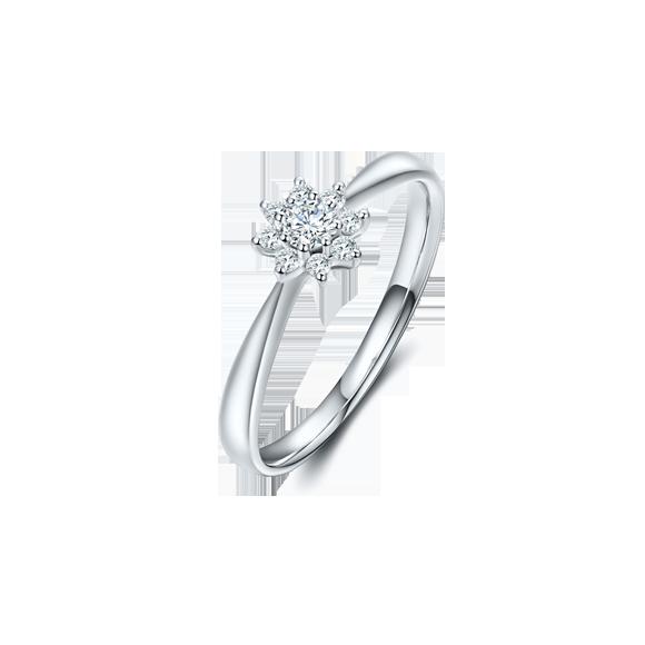 Leysen莱绅通灵太阳花钻石戒指款号: SS41501RG
