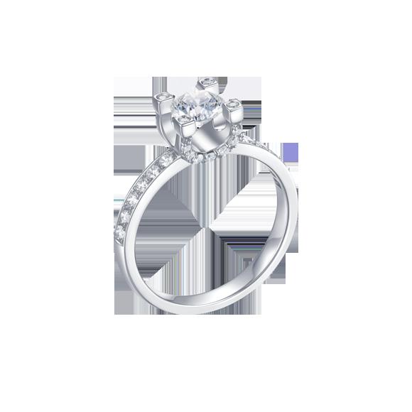 Leysen莱绅通灵 钻石戒指  款号:RHH11805RG